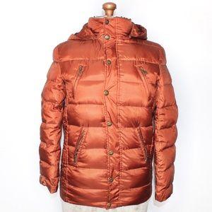 Armaten Burnt Orange Puffer Winter Coat